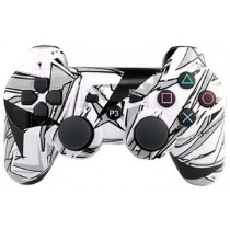 Джойстик Dualshock 3 [PS3, черно-белый граффити]