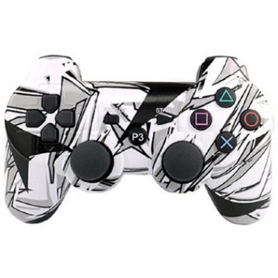 Джойстик Dualshock 3 беспроводной [PS3, черно-белый граффити]