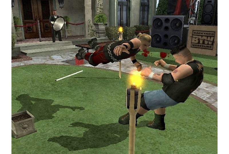 PS2   Backyard Wrestling Dont Try This at Home - купить