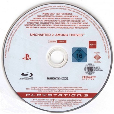 Uncharted 2 Among Thieves (промо диск) [PS3, английская версия]
