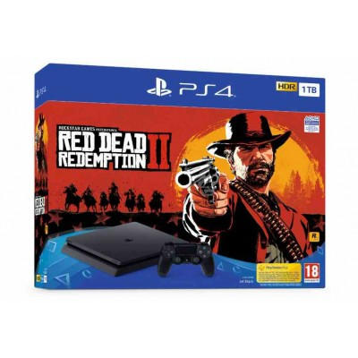 PlayStation 4 Slim 1Тб  + Red Dead Redemption 2