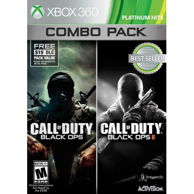 Call of Duty Black Ops Combo Pack ( 1 + 2 ) [Xbox 360, английская версия]