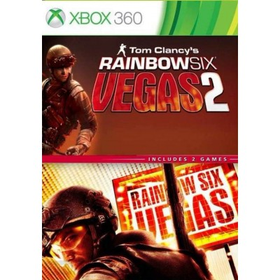 Tom Clancys Rainbow Six Vegas 1 + 2 [Xbox 360, английская версия]